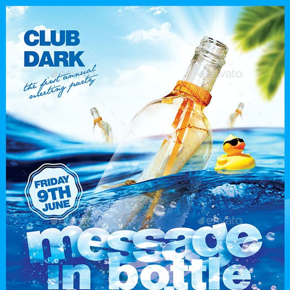 Message in Bottle Meeting Party
