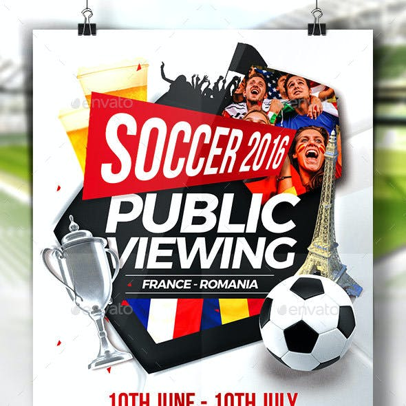 Public Viewing Flyer