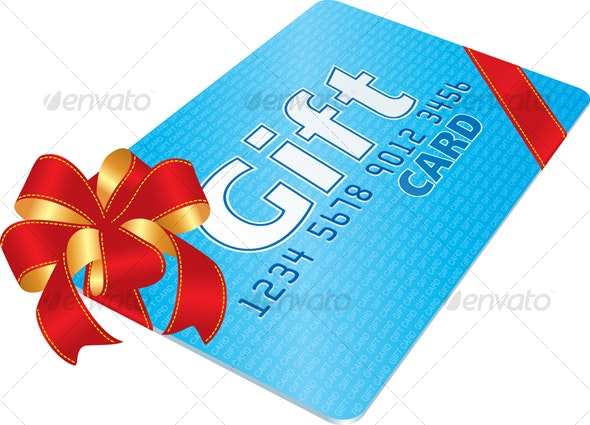 Gift Card with red bow - Commercial / Shopping Conceptual