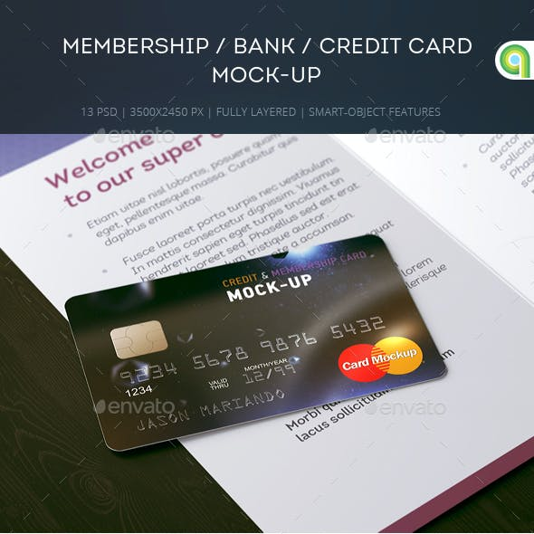 Membership / Bank / Credit Card Mock-up