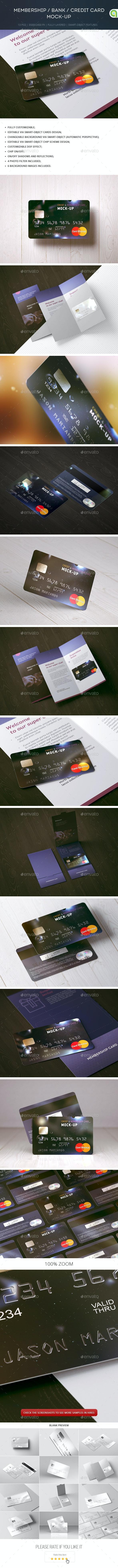 Membership / Bank / Credit Card Mock-up - Miscellaneous Print