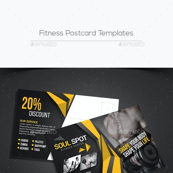 Fitness Postcard Templates