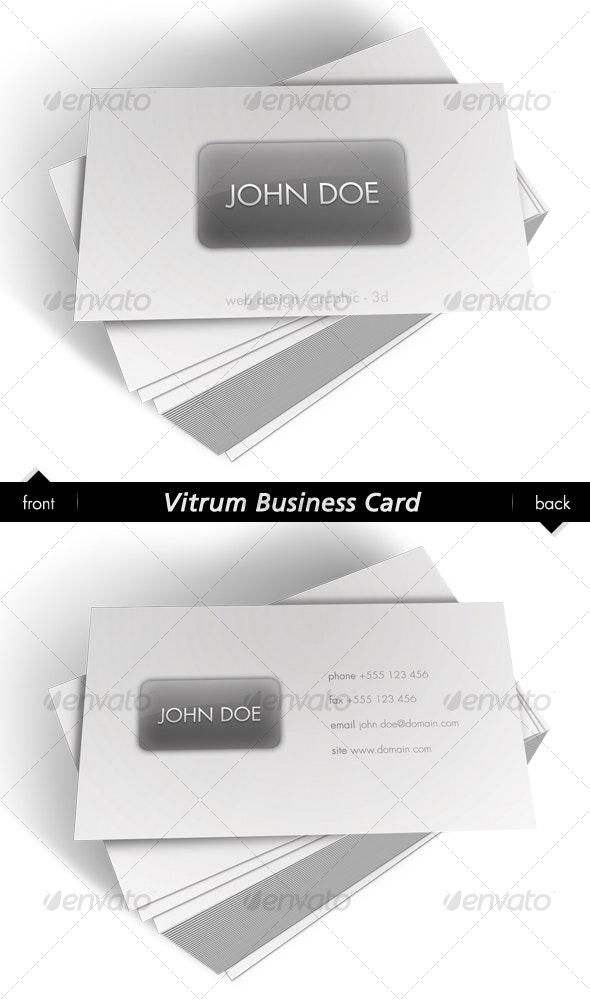 Vitrum Business Card - Creative Business Cards