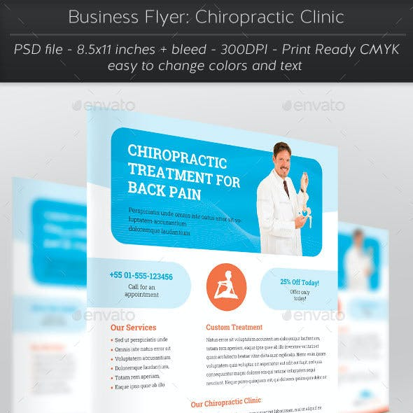 Business Flyer: Chiropractic Clinic