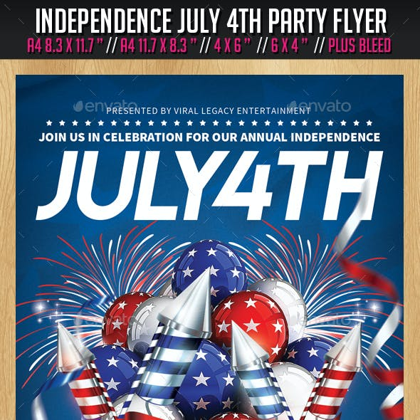 July 4th Party Flyer