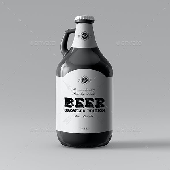 Beer Mock-Up | Growler Bottle Mock-Up
