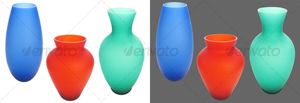 Vases - Home & Office Isolated Objects