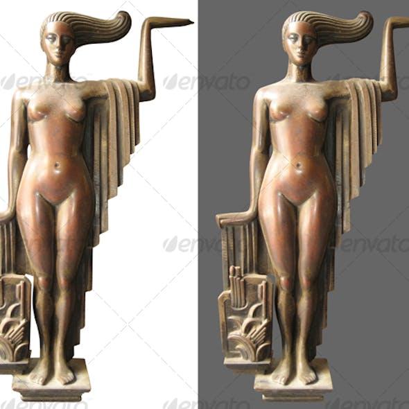 Woman in bronze