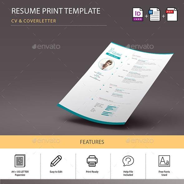 Jennifer Resume/CV Print Template