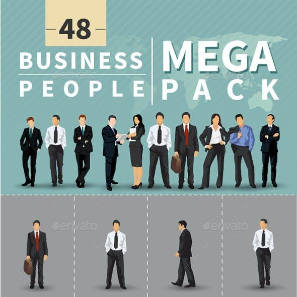 48 Business People Illustration