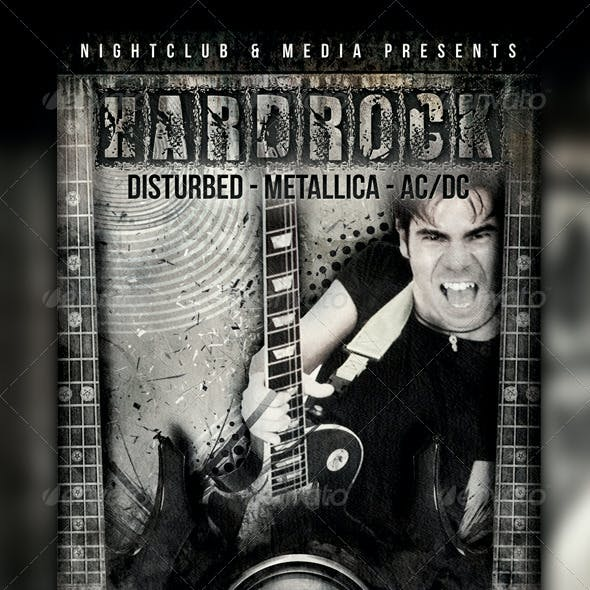 Hard Rock Flyer Design