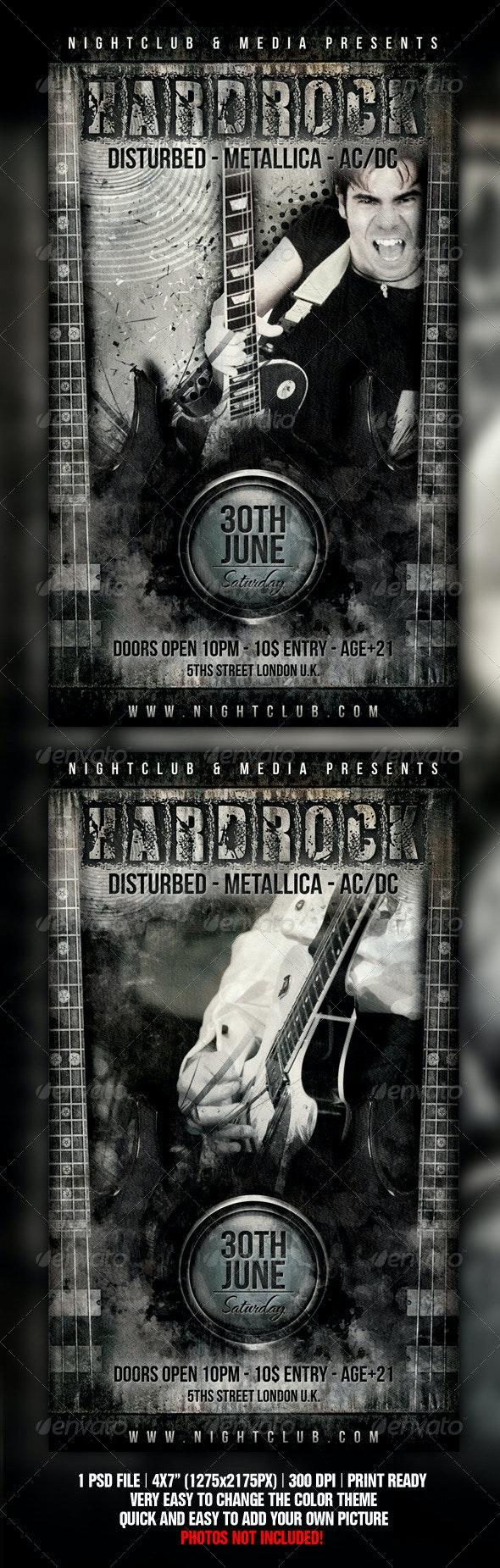 Hard Rock Flyer Design - Concerts Events