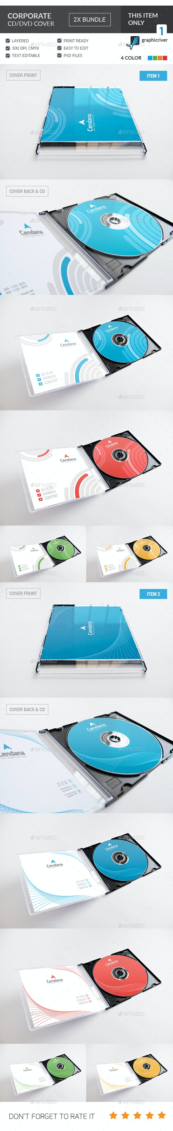 Corporate CD/DVD Cover Bundle  - CD & DVD Artwork Print Templates
