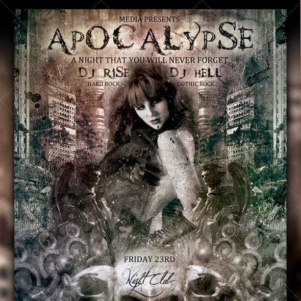 Apocalypse Night Club Party  Flyer / Poster