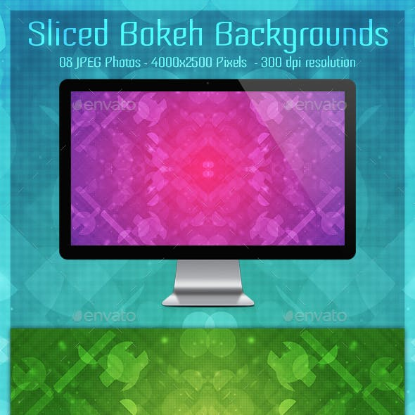 Sliced Bokeh Backgrounds