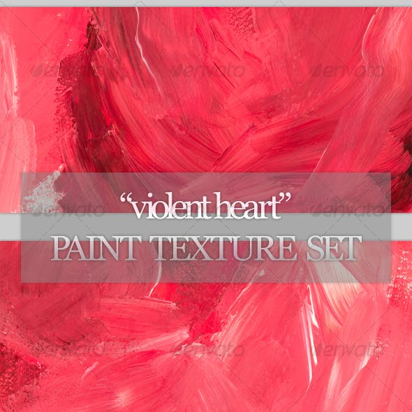 """Violent Heart"" paint texture set"