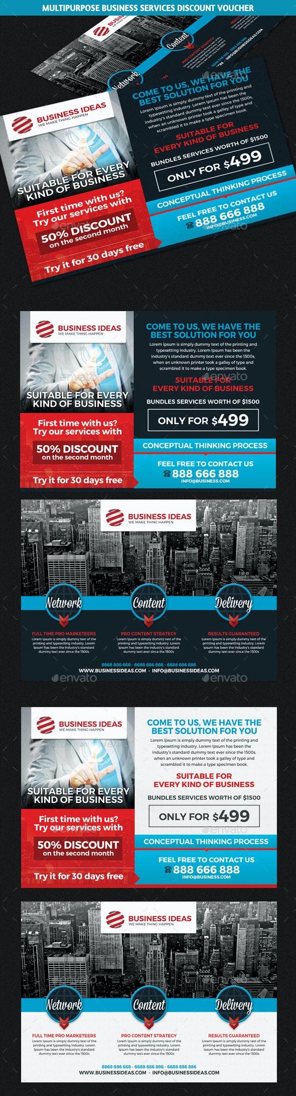Multipurpose Business Discount Voucher Template - Cards & Invites Print Templates