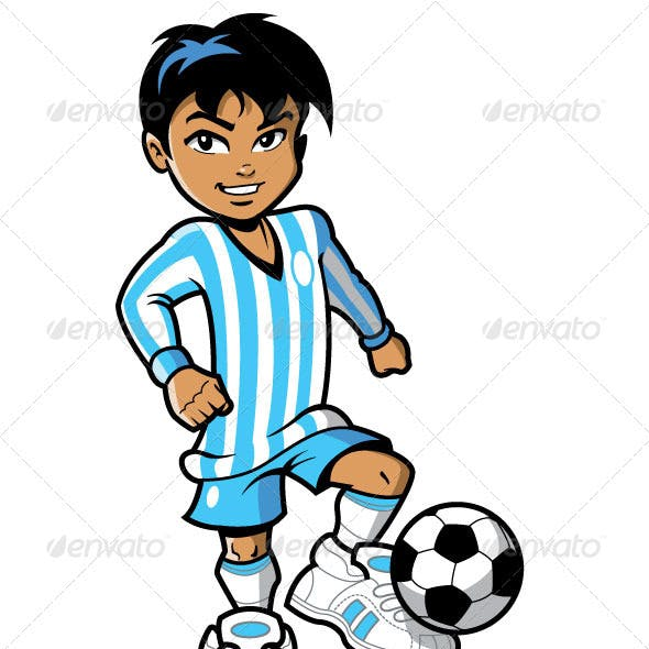 Smiling Soccer Football Player