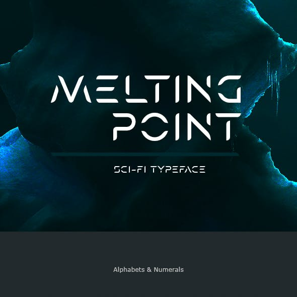 Melting Point Sci-fi Font