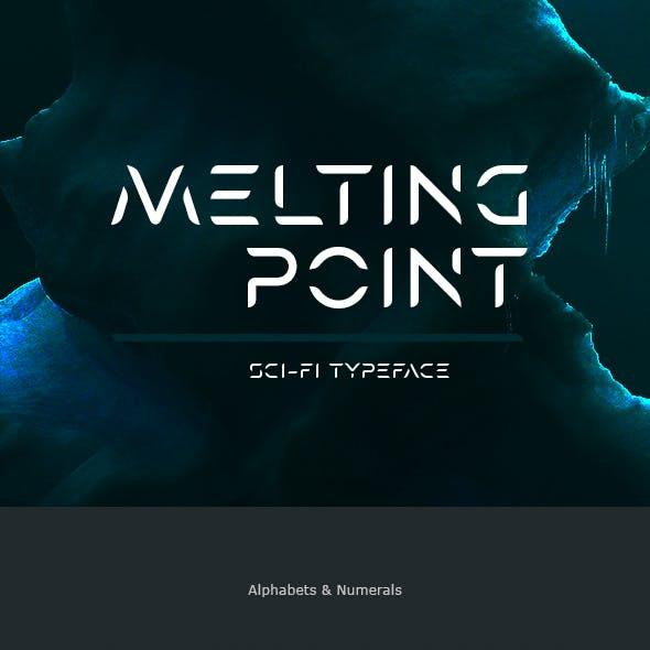 Melting Point Sci-fi Font