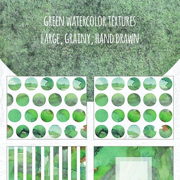 Green Watercolor Textures