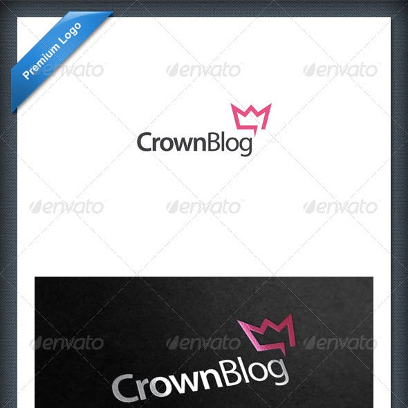 Crown Blog and Chat Logo Template