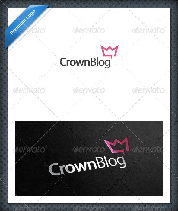 Crown Blog and Chat Logo Template - Objects Logo Templates