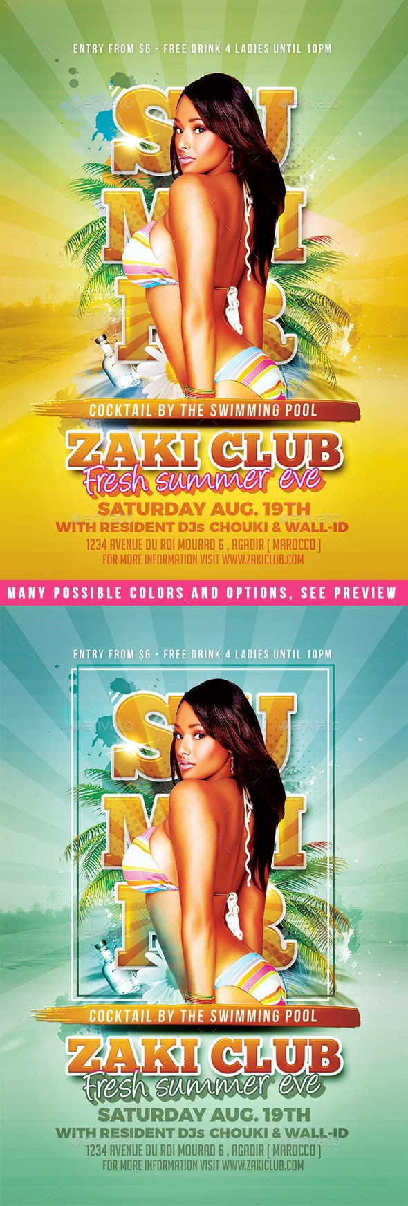 Summer Club Flyer - Clubs & Parties Events