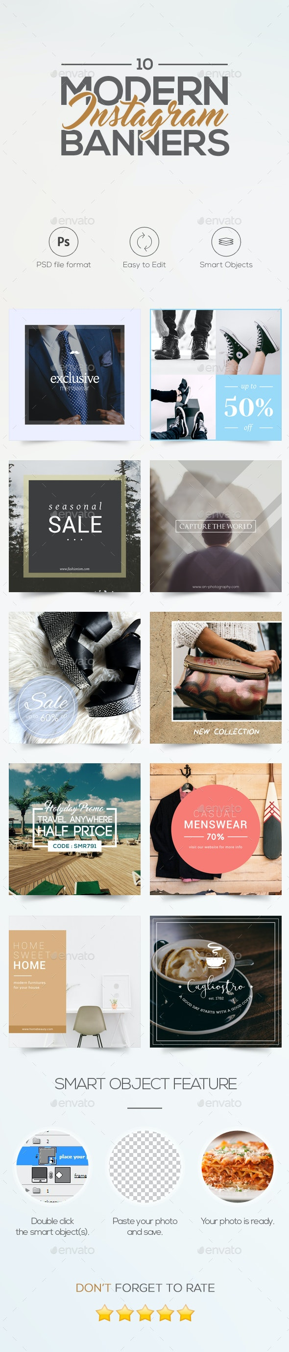Modern Instagram Banners - Social Media Web Elements