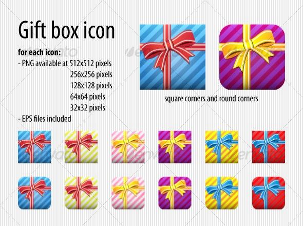 Gift Box icon - Seasonal Icons