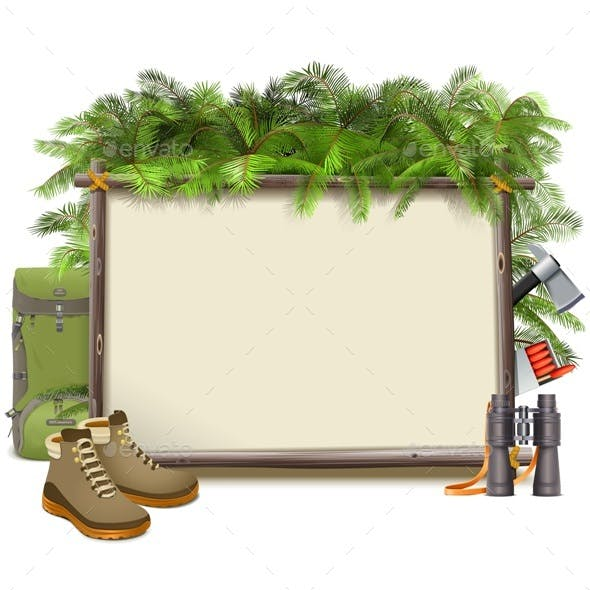 Vector Jungle Camping Frame