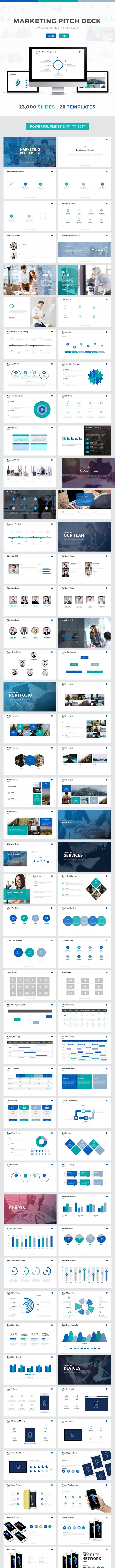 Marketing Pitch Deck Powerpoint Template - Business PowerPoint Templates