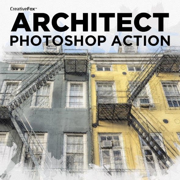 Architect Photoshop Action - Sketch Effect Creator