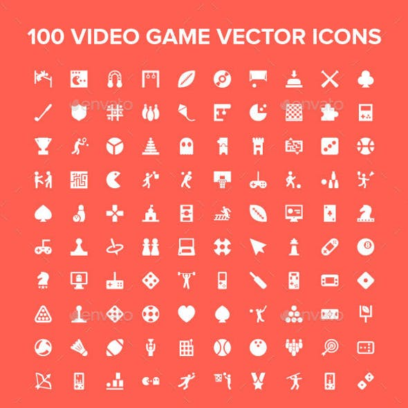 100 Video Game Vector Icons