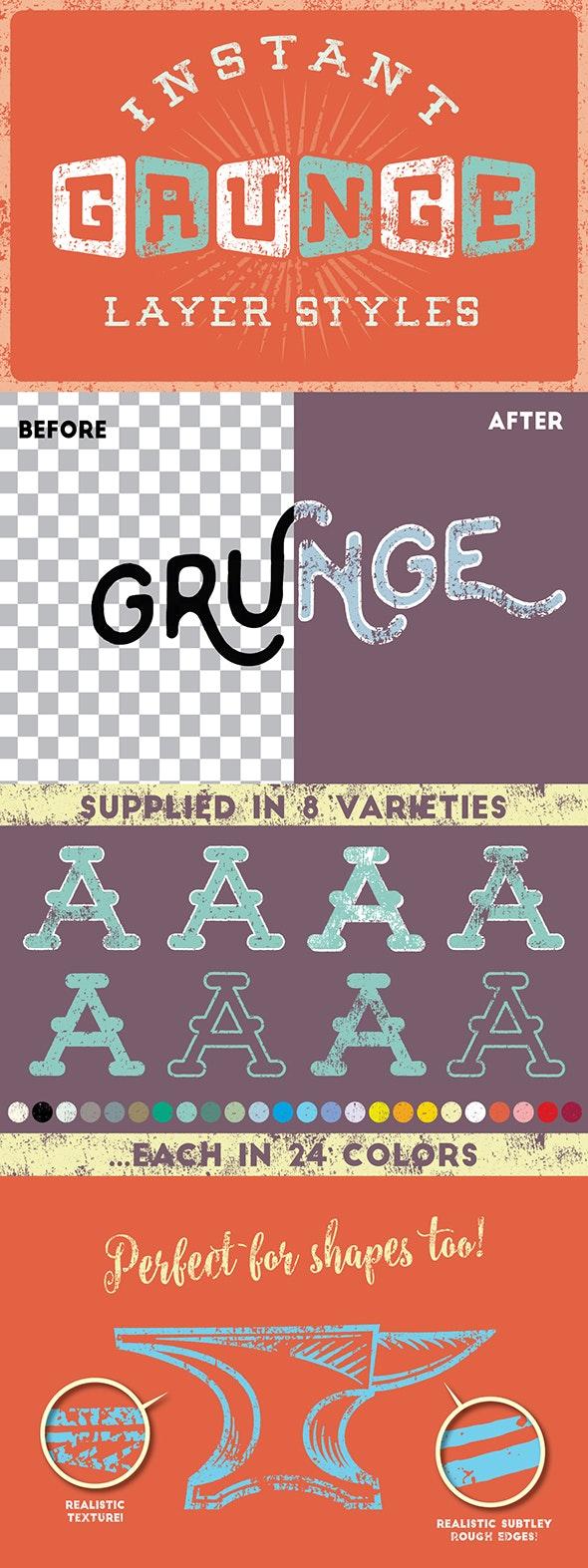 Grunge Layer Styles - Styles Illustrator