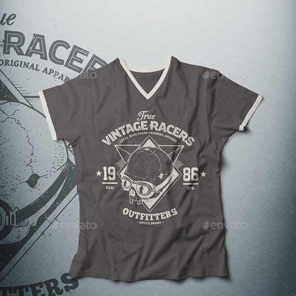 Male V-Neck T-shirt Mock-up