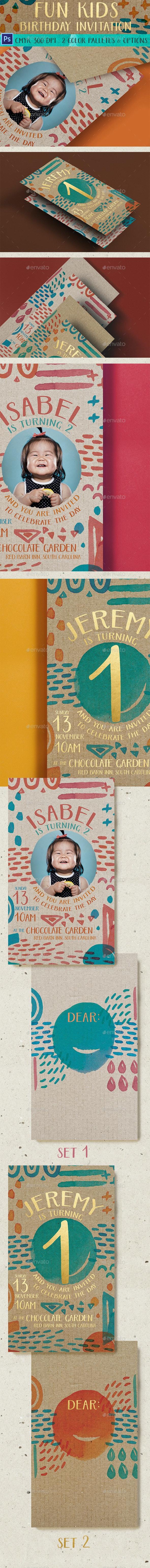 Fun Kids Birthday Invitation - Birthday Greeting Cards