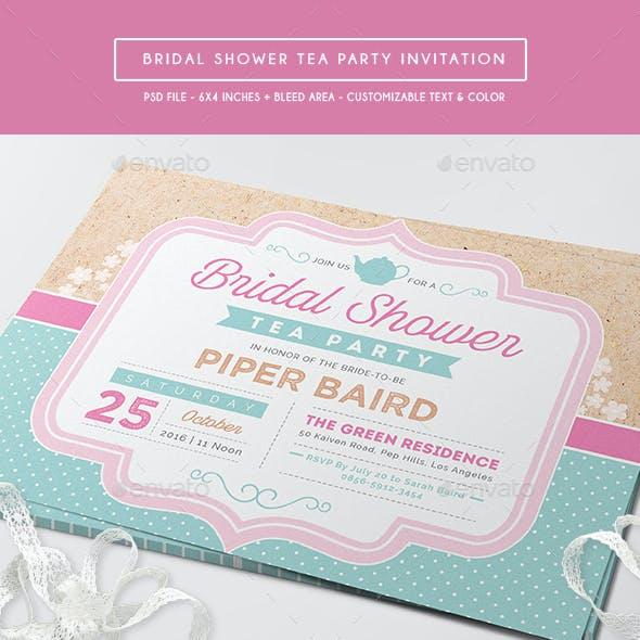 Bridal Shower Tea Party Invitation
