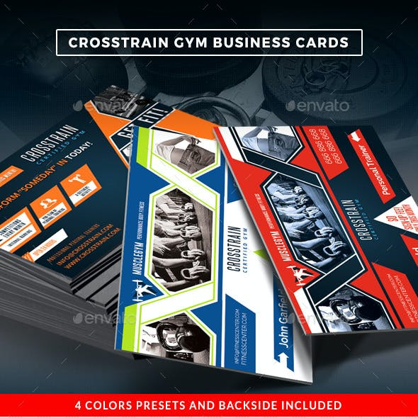 Cross Training Gym Business Cards Template