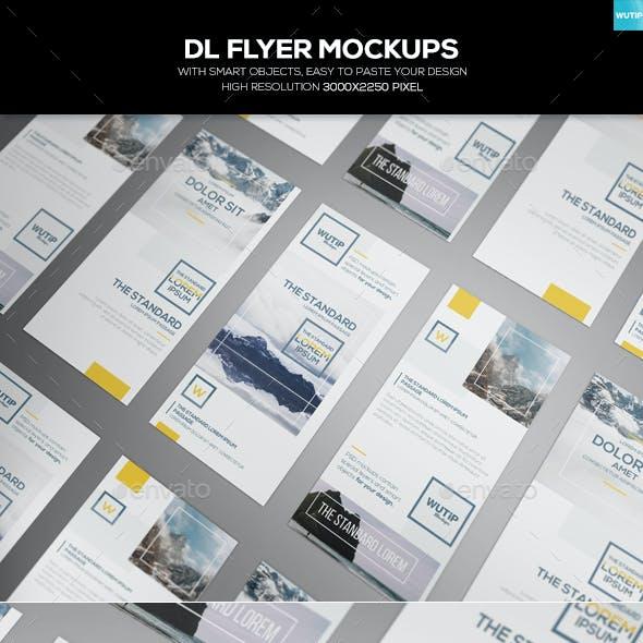 DL Flyer Mockups