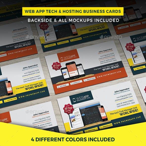 Web App Tech & Hosting Business Cards Template
