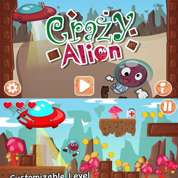 Crazy Alien Runner Game Assets