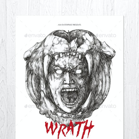 Wrath Illustrated Flyer Poster