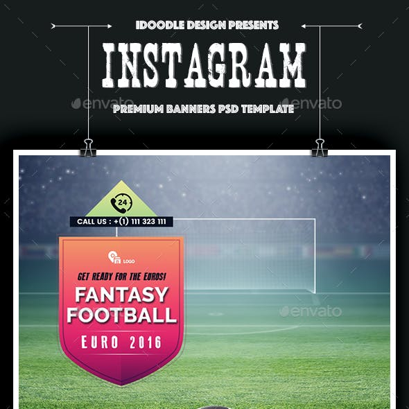 Soccer Instagram Banners Ads - 10 PSD