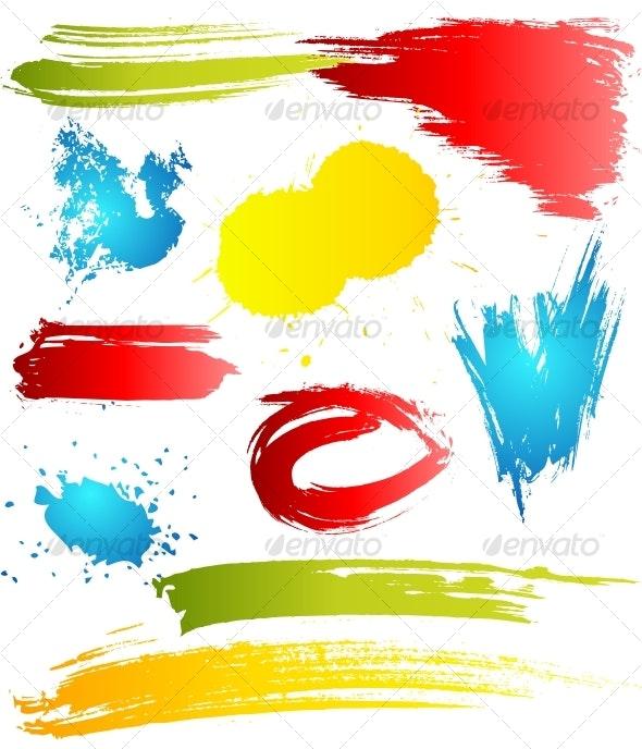 Grungy design elements - Decorative Symbols Decorative