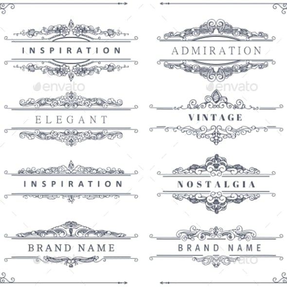 Vintage Calligraphic Ornaments and Frames