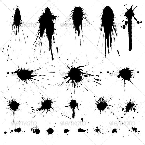 Grunge graphic elements collection - Decorative Symbols Decorative