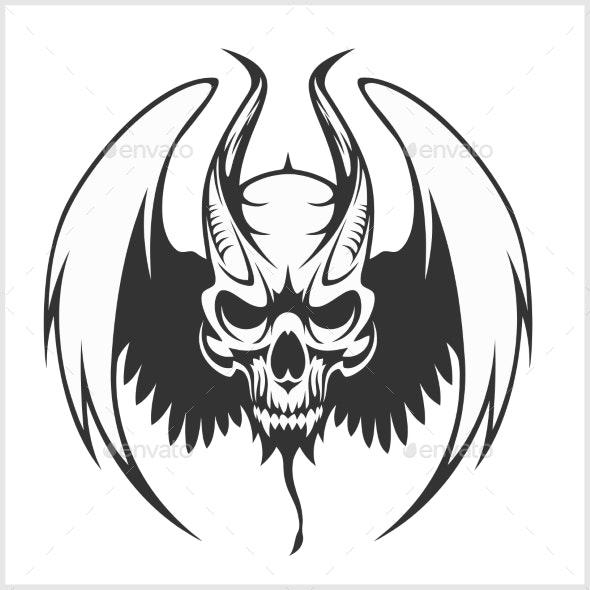 Fierce Gargoyle-Fantasy Winged Beast