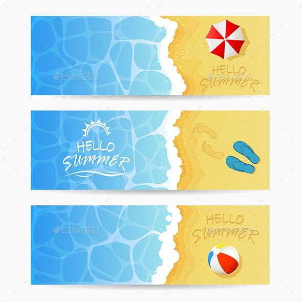 Three Beach Summer Cards