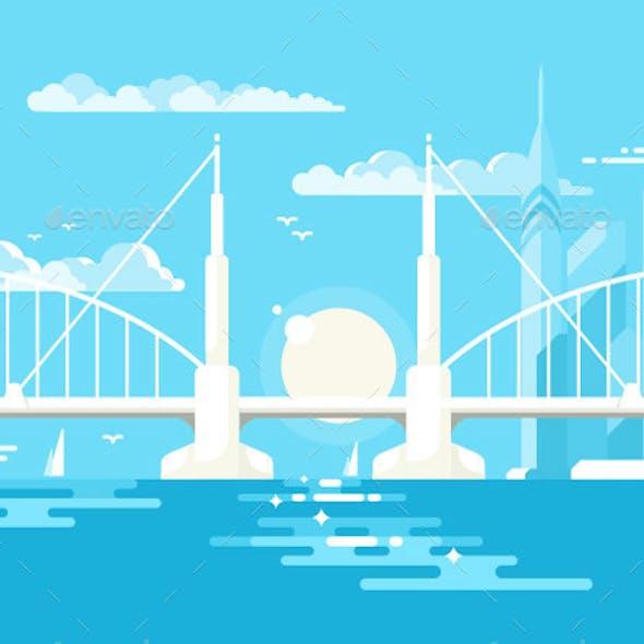 Modern Bridge Design Flat